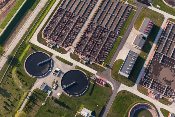 Industrial wastewater treatment facility